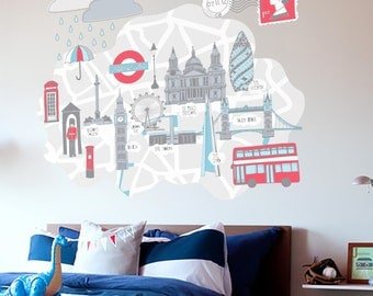 Beautifully British London Vinyl Wall Sticker Wall Decor Decal