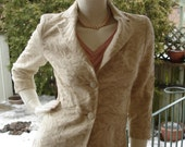 Le Chateau Ivory Cotton Brocade tailored fit Blazer XXS