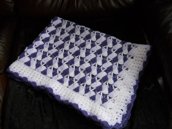 Crochet Baby Blanket Christening shawl Baby by ComfyCosyCrafts