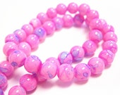 33 inch strand 8mm Baking Varnish Glass Beads(over 100 beads)-9185