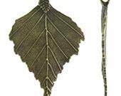 1pc 72x46mm antique bronze finish leaf pendant-9371