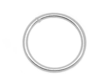 100pc silver finish 12mm jump ring gauge 17-7906