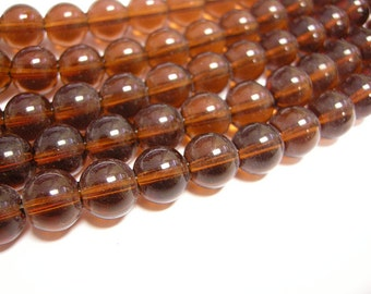 30pc 10mm transparent  glass  round beads-7792