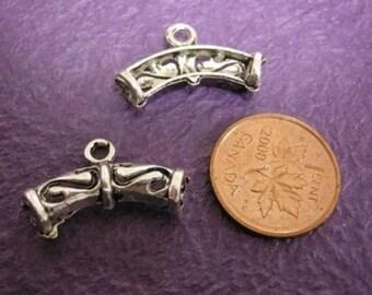 6pc antique silver metal connector--552