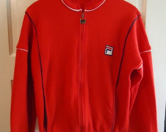 Vintage 1980s FILA Track Warm Up Jacket Sz S/M