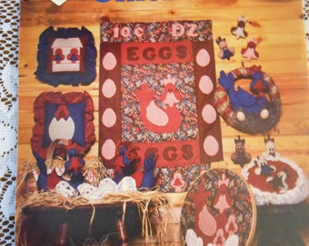 Dumplin Designs Fabric Chickens Quilting Applique Candlewicking Craft Instructions Book