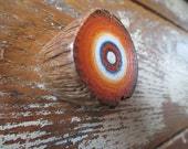 Cabinet Knob Pulls from Reclaimed  Barn Ladder Rungs - Hand Painted - Set of 2 (2KP1)