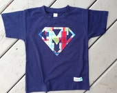 Super Letter Shirt for Boys in Madras