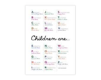 11x17 Alphabet Poster, Printable PDF