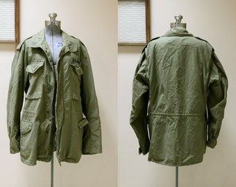 1970s M-65 Military Cold Weather Field Jacket Medium Long John Ownbey Co