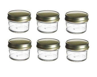 6 pcs, 4 oz Mason Jar for DIY Wedding jam, jelly, Pie in a jar