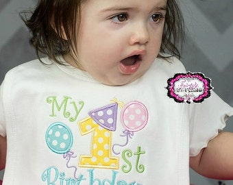 My First Birthday Bib, Bib, cake smash, birthday bib, First birthday, first birthday bib