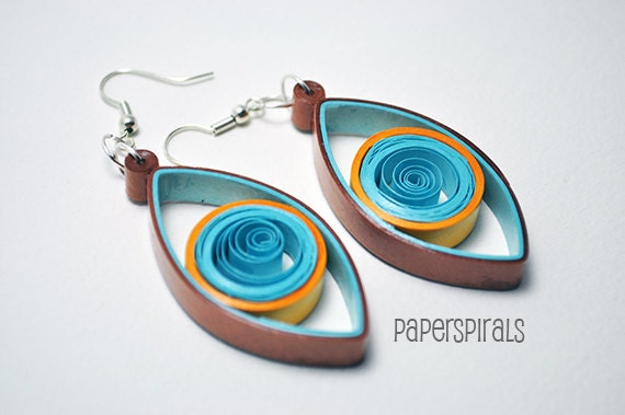 QWuilled Paper Dangle Earrings