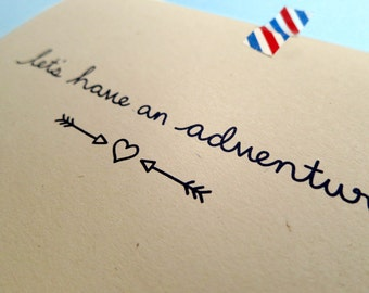 Let's Have An Adventure Greeting Card, Recycled, Eco Friendly Friend Card