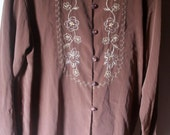 Vintage Embroidered Polyester Shirt