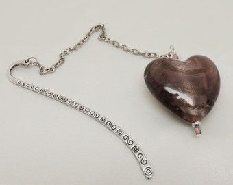 Purple Heart Dangle Bookmark