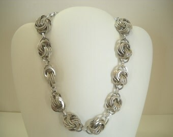Vintage & Gorgeous Silver Tone Wiry Choker Necklace Made In Germany (9160) Perfect For The Little Black Dress!