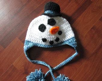 Snowman Earflap Hat