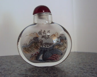 Hand Painted Inside Chinese Snuff Bottle