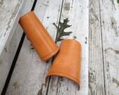 Handmade Tan Leather Bracers