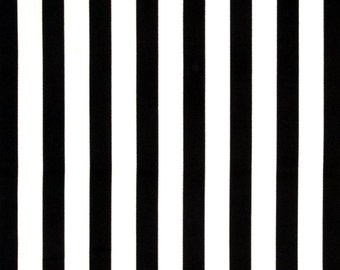 FABRIC-Black and White Striped Fabric by the Yard-Quilt Fabric-Apparel Fabric-Home Decor Fabric-Fat Quarter-Craft Fabric-Fat Quarters