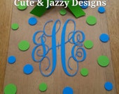 Personalized Monogram Acrylic Clipboard