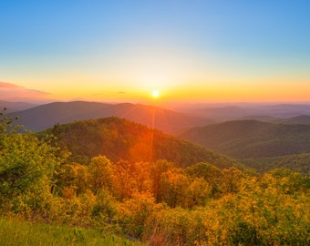 Shenandoah Sunrise Photography - Shenandoah National Park - Blue Ridge Mountains - Virginia Print - Landscape Photography
