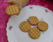 5 Peanut Butter Cookies For American Girl or Similar 18 inch Dolls