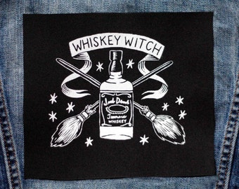 Whiskey Witch Patch - Black