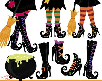 Witchy Witches Clipart Set