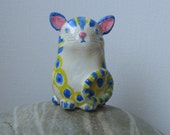 Moon Cat Clay Model Sculpture