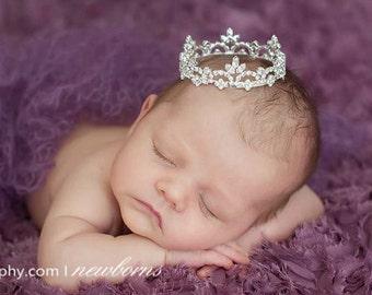 newborn crown prop, Newborn Crown, Photo Prop, baby crown, photography prop, crystal crown, crown, baby shower gift - Malaina