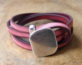 BC5 - Leather bracelet Bahia Del Sol - collection VINTAGE
