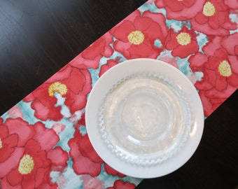 Table Runner in Red Cosmos / Ready to Ship