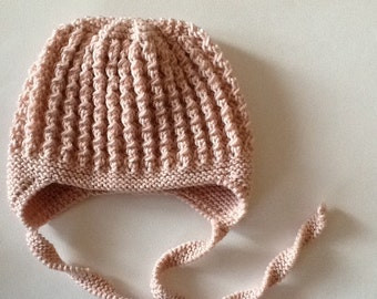 FLORA hat for baby girl. Cashmere baby hat.NB-24 months. Made to order. Choose your colour.