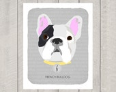 French Bulldog - Dog Nursery Art Print - Custom