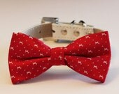 Christmas Gift, Red dog Bow tie, Cute, Unique, Christmas photo ideas, Dog Lovers, Red bow, Pet Accessory, Dog Collar