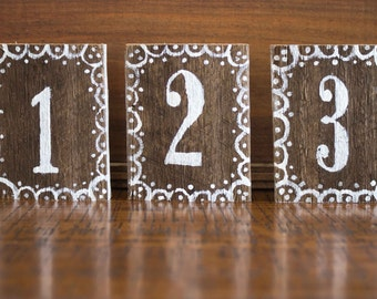 Rustic Cottage Hand painted Table Numbers