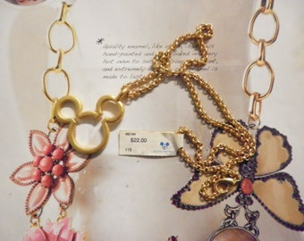1 Goldplated Mickey Mouse Necklace