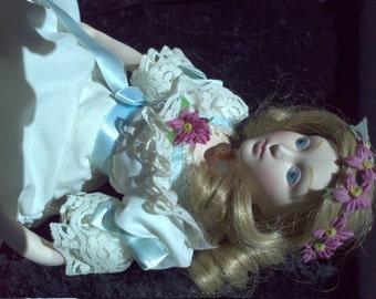 SALE Little Women Amy March Franklin Mint Porcelain Doll