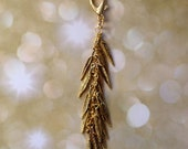 purse add on /// gold feather tassel