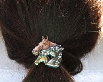 Horse Family Ponytail Holder