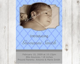 Birth Announcement Baby Boy