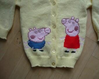 Knitting Pattern For Peppa Pig : pig sweater   Etsy UK