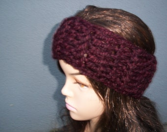 Winter headband ear warmer headband in Claret color or SELECT COLOR, soft warm and comfortable
