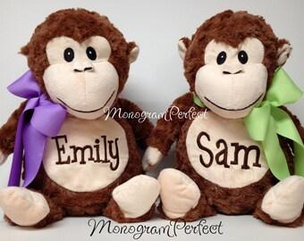 """Personalized 16"""" Plush Monkey Stuffed Animal"""