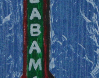 11x14 matted Reproduction- Alabama Theatre