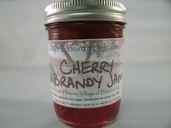 Cherry Brandy Jam Homemade by Beckeys Kountry Kitchen jam jelly preserves fruit spread nandcrafted artisan quality