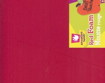 Smart Foam Red 12 x 18  Six Sheets Creative Hands by Fibre Craft Supplies