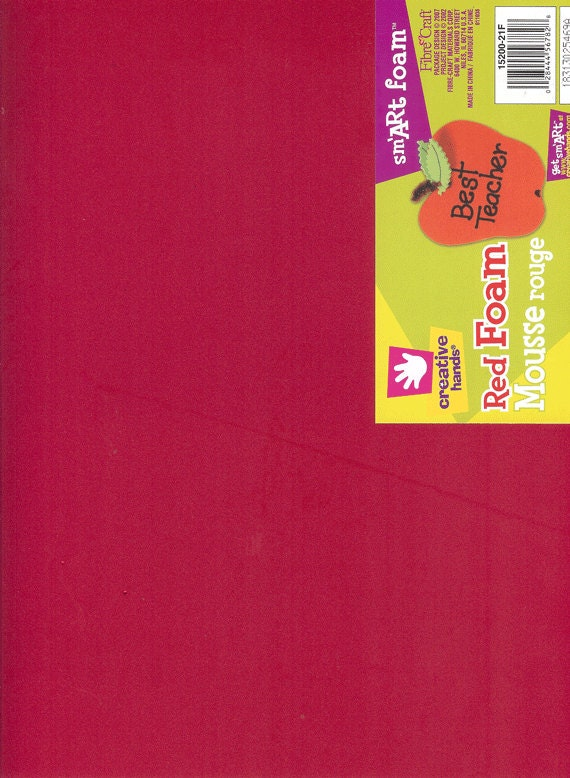 Smart foam red 12 x 18 six sheets creative hands by by for Red craft foam sheets